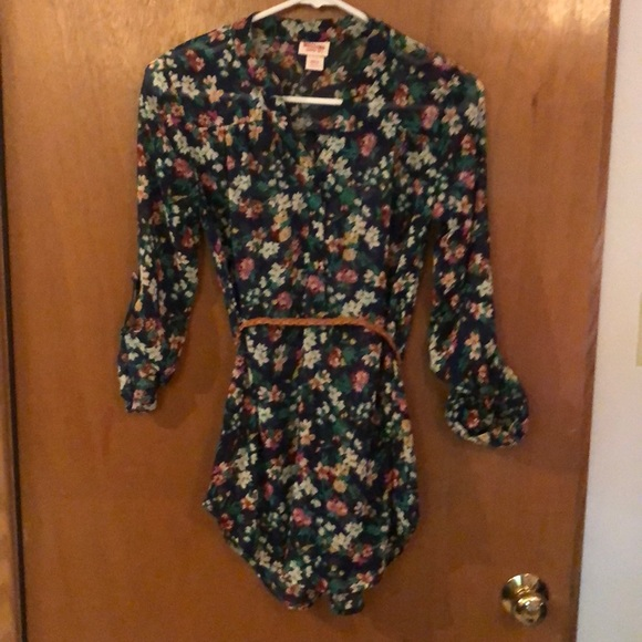 Target Tops - Floral tunic quarter sleeve